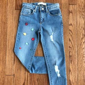 🔥Zara girls jeans destroyed jeans size 7